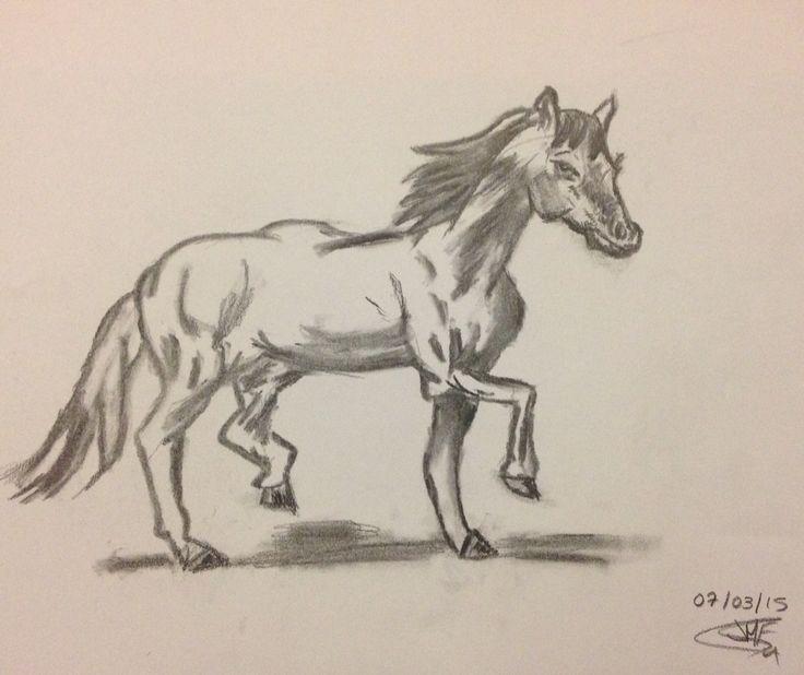 1r dibujo con carboncillo