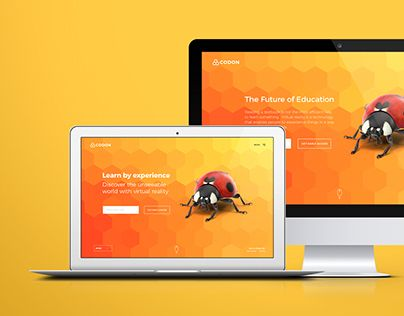 """Check out new work on my @Behance portfolio: """"Website, Identity and Presentation design for Codon VR"""" http://be.net/gallery/55186647/Website-Identity-and-Presentation-design-for-Codon-VR"""
