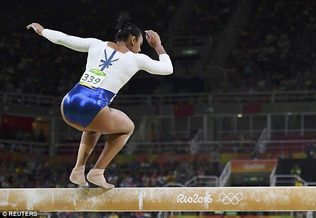 Team GB gymnast Ellie Downie fell off the balance beam during tonight's women's artistic gymnastic final as the British team finished in fifth place