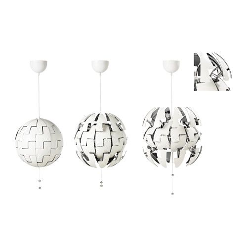 IKEA PS 2014 Pendant lamp - white/silver color. Got this to put in our new home. When we were looking at them I told my husband it reminded me of the Star Wars Death Star!