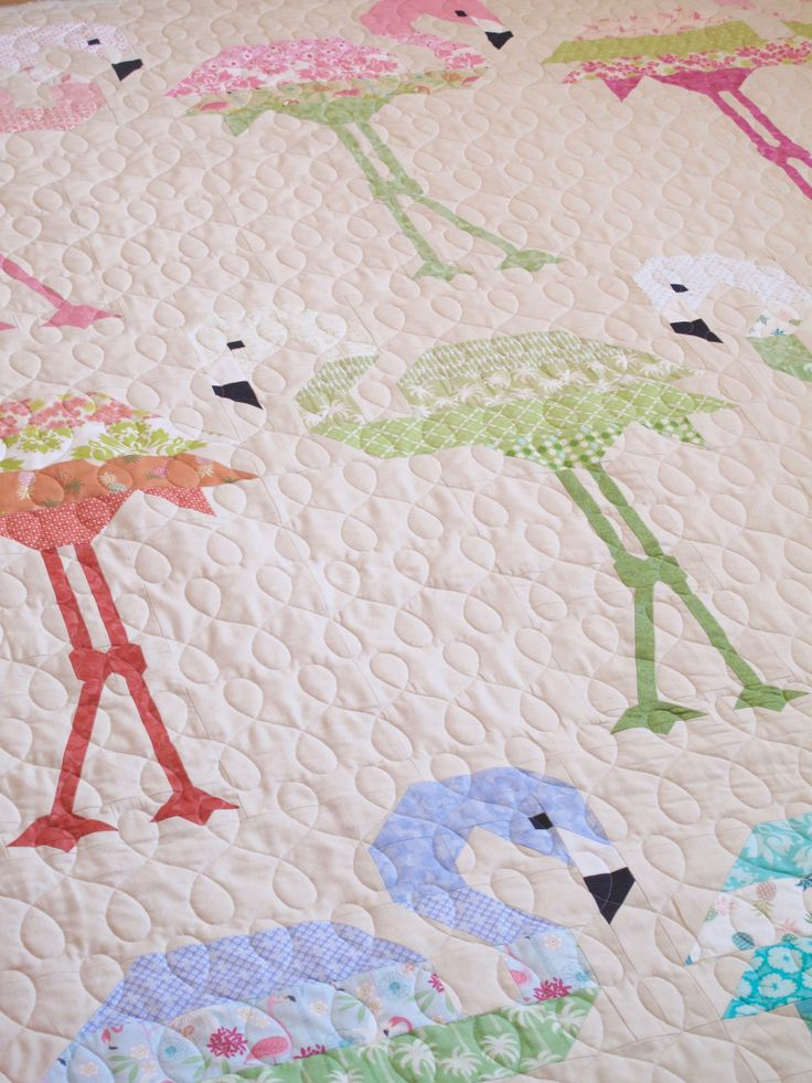 Florence Flamingo Quilt Kit 20 Elizabeth Hartman Quilts Beach Themed Quilts Animal Quilts