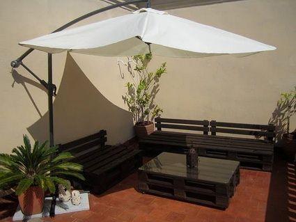 Muebles para exterior hechos con palets | EstiloyDeco