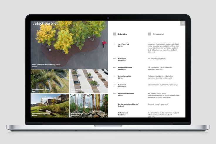 New web design for Swiss landscape architects vetschpartner Landschaftsarchitekten AG, Zürich   www.vetschpartner.ch