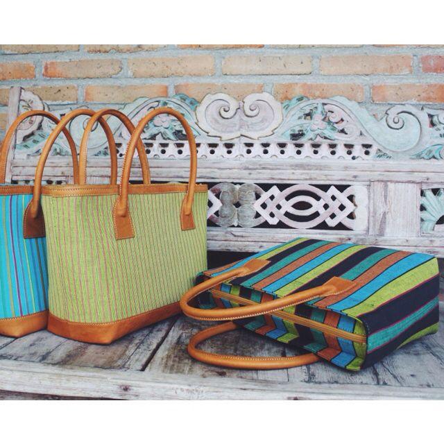 New Arrival : Prameswari Bag, available in 3 different Lurik colors    #djokdjabatik #lurik