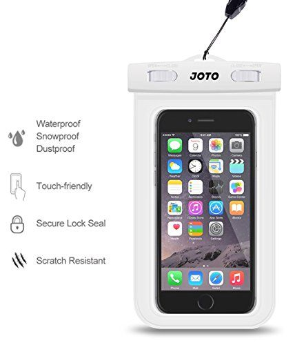 """JOTO Universal Waterproof Case Bag for Apple iPhone 6, 5S 5C 5 4S, Samsung Galaxy S5, S4, S3, Samsung Note 4 /3 / 2 / 1, HTC One M8 (2014), M7 (2013), HTC One Max, LG G2, G3, Nexus 5, 4, Sony Xperia Z1, Z2, Nokia Lumia 520, 630, 930, BlackBerry Z10, Z3, Motorola - Also fits other Smartphones up to 6.0"""" diagonal - IPX8 Certified to 100 Feet (White) JOTO http://www.amazon.com/dp/B00LBK7QBY/ref=cm_sw_r_pi_dp_LeNuvb0DW020N"""