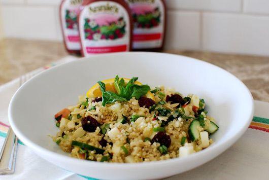 Amelia's Herbed Quinoa Salad with Raspberry Dressing: Quinoa Raspberry, Recipe, Raspberry Dressing, Herbed Quinoa, Annie S Homegrown, Apples, Quinoa Salad, Raspberries