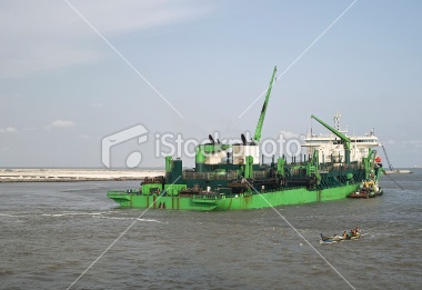 Green Dredge in Lagos River