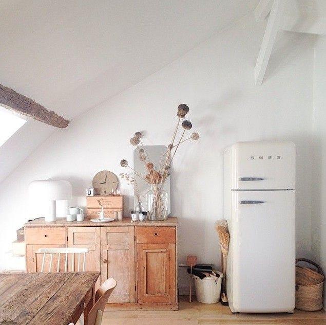 Una cocina parisina con aire campestre.