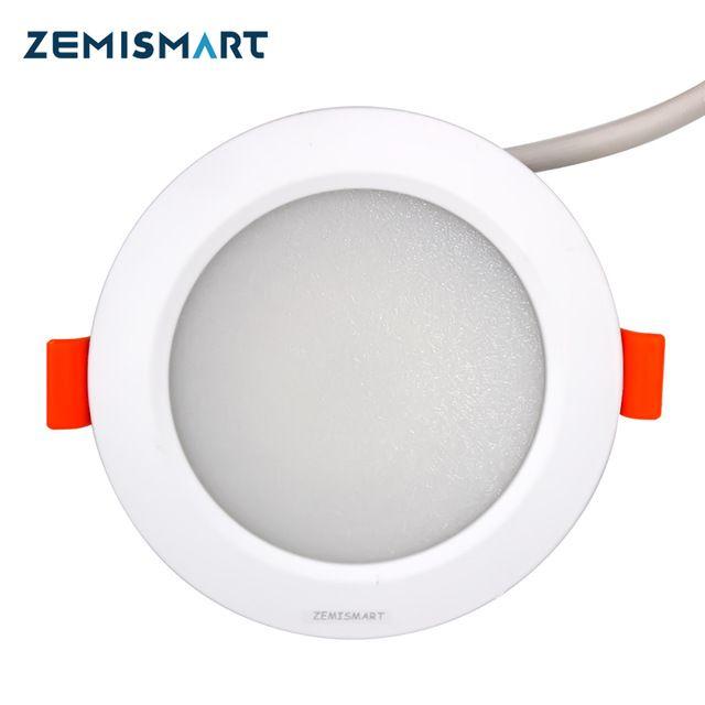 ZLL ZigBee 3.0 Smart RGBW Downlight Led Bulb Light Work with Amazon Alexa Echo Googlehome Smarthings Via zemismart Or 3party hub