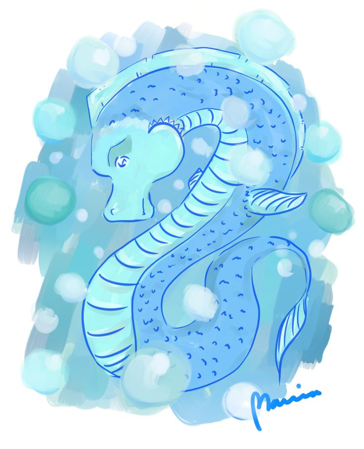 Seahorse – digital drawing #mariadrawsdaily #art
