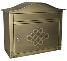Residential Mailboxes – Locking Wall Mount Embossed Peninsula