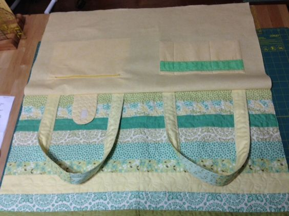 Quilted Tote Bag from scrap strips!