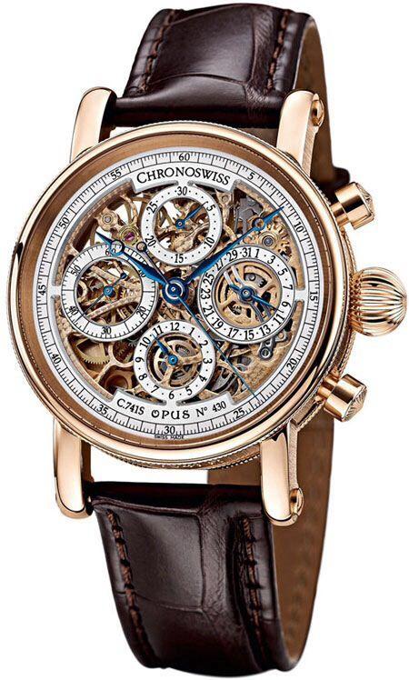 40a9b70d28e CHRONOSWISS Chronograph Skeleton Mens Wristwatch Model CH7541SR ...