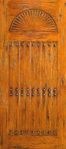 Single Door Exterior Knotty Alder V-Grooved Clavos Southwest Home & 25 best Western Doors images on Pinterest | Entrance doors Exterior ...
