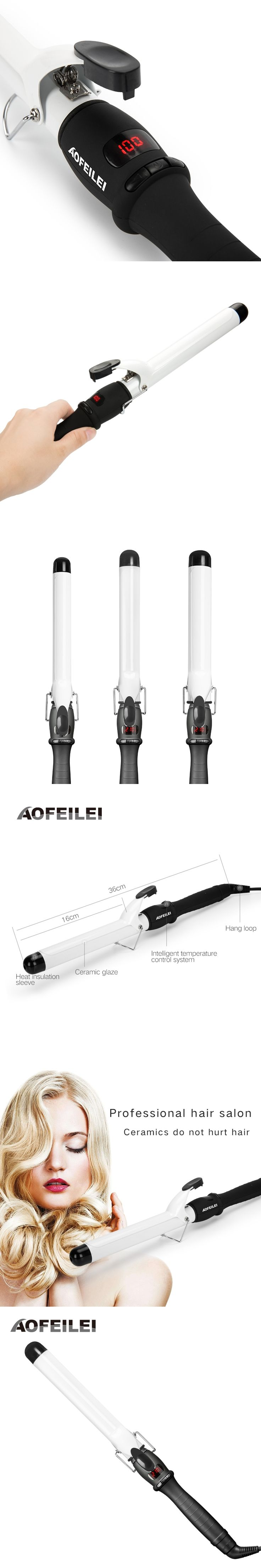 2017 New Rushed Professional Hair Curling Iron Ceramic Electric Curler Waver Curlers Rollers Wand Aofeilei Styler Styling Tools
