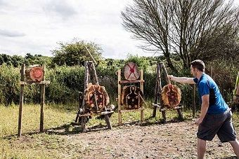 Check out this EXCLUSIVE Axe Throwing, Archery & Blindfold Driving bundle for your thrilling stag do! #stagdo #offers #action