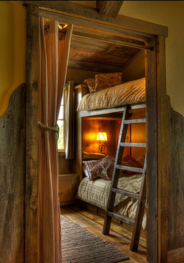 cabin bunk beds bunk beds of rustic cabin cottage or