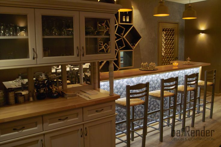 Custom-made traditional Service Station - Barbalexis Oriental Restaurant in Piraeus