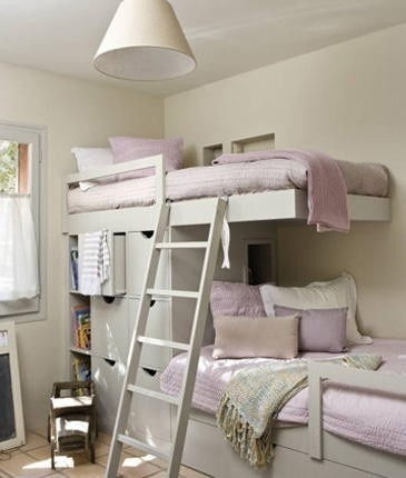 If you choose bunk beds these are pretty cool.  Love the built in storage.