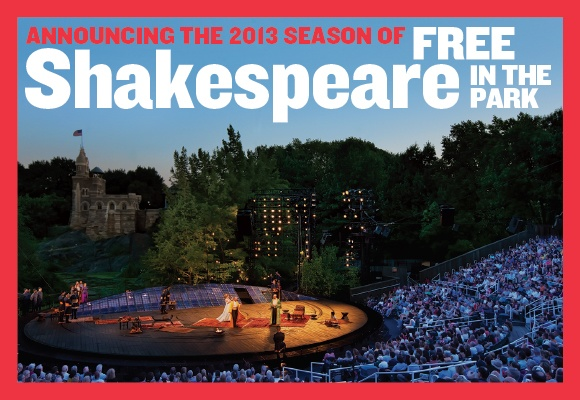 Announcing the 50th Anniversary Season of free Shakespeare in the Park at the Delacorte Theater - As You Like It & Into the Woods