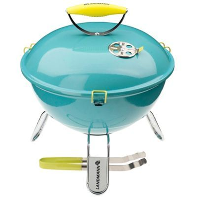 How flamin' cute is this?! Turquoise 'Picolino' portable charcoal barbeque- at Debenhams.com