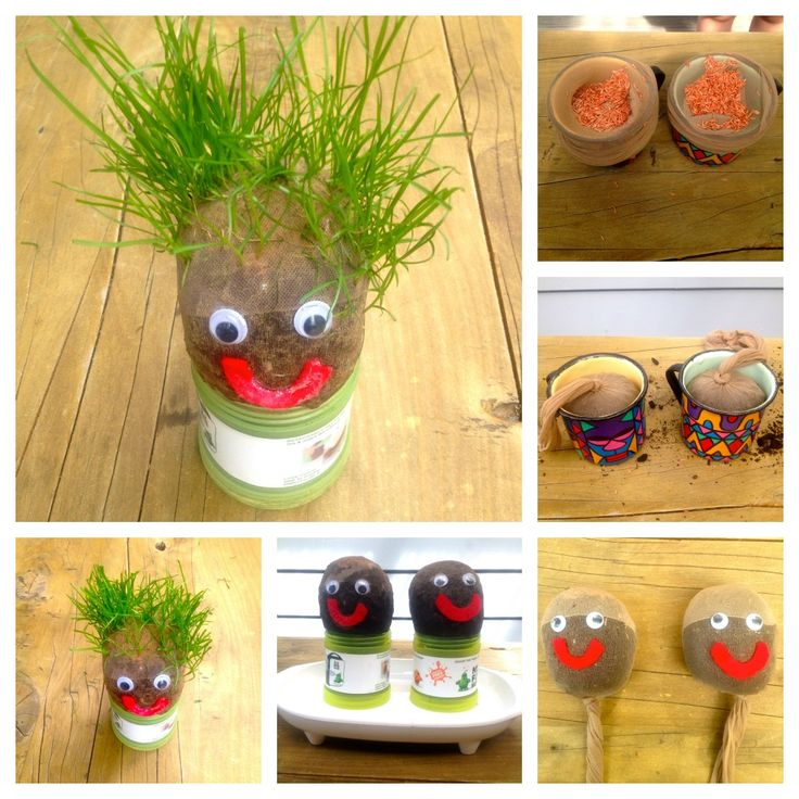 Such a fun DIY for the kids, growing a grass head! check it out!