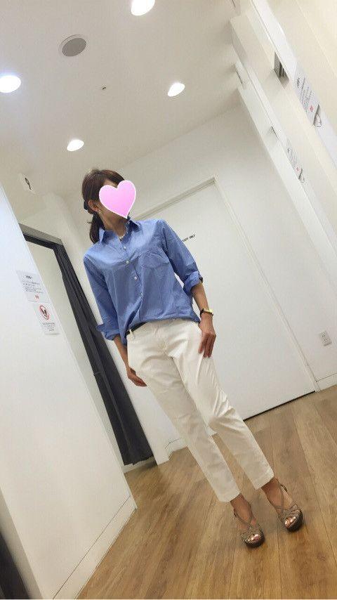 【coordinate】GUパンツでベージュ&ホワイトの優しげ配色コーデ の画像|Umy's プチプラmixで大人のキレイめファッション