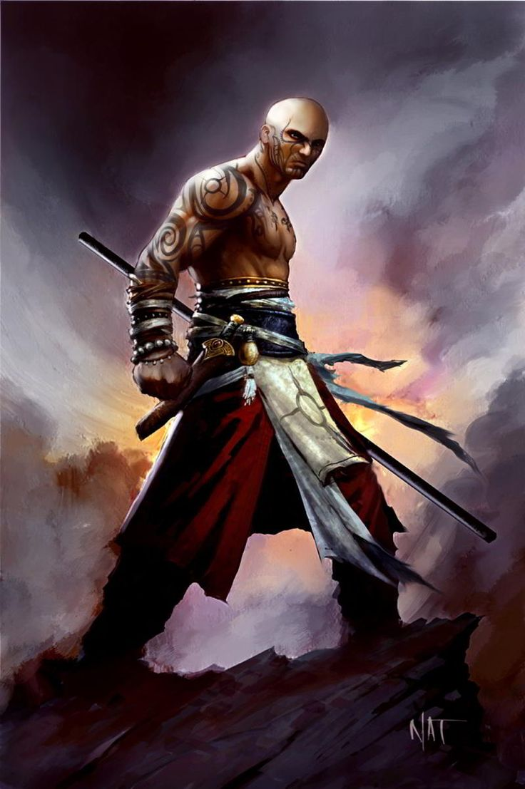 quarterstaff monk - Google Search