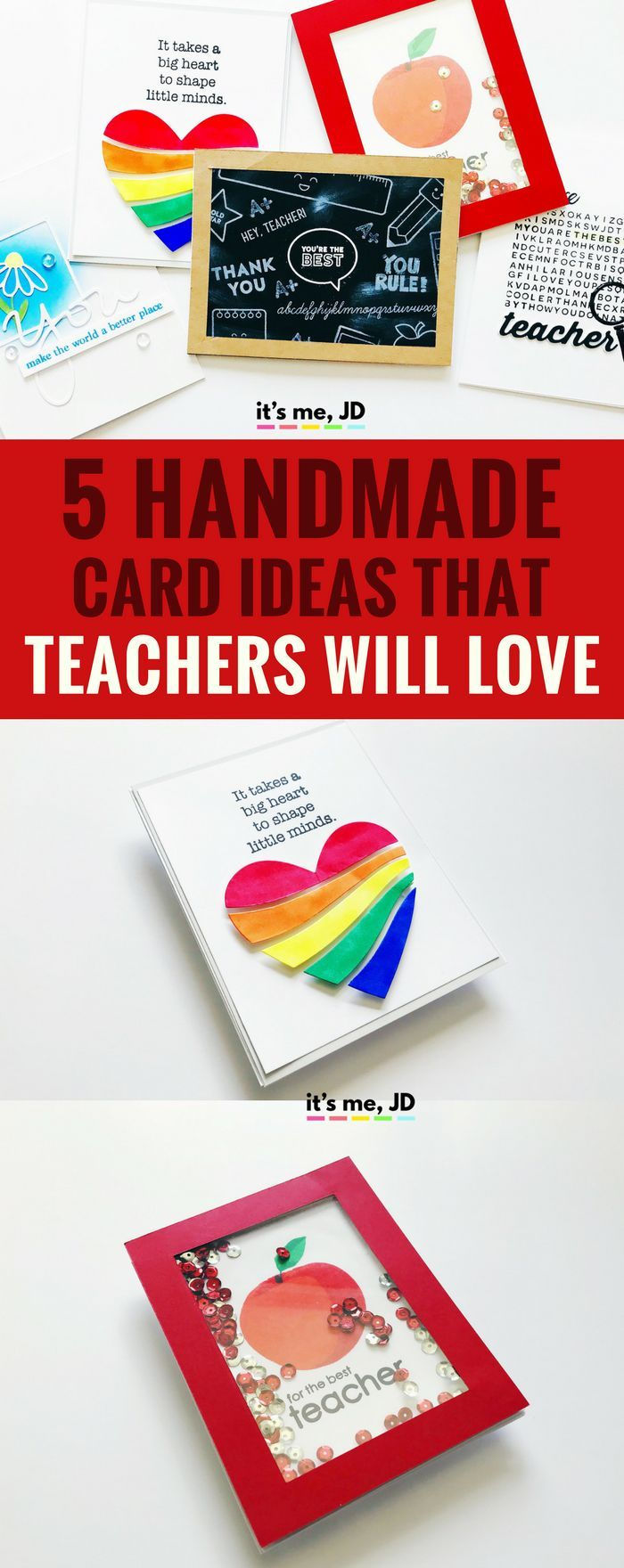 5 handmade card ideas that teachers will love  diy cards