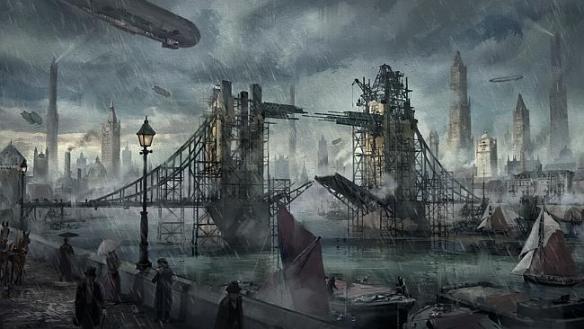 Steampunk London.