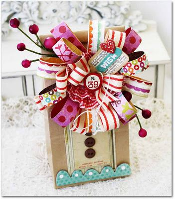 now THAT'S a package!!: Paper Craft, Gift Wrapping, Paper Bows, Gifts, Wrapping Ideas, Crate Paper