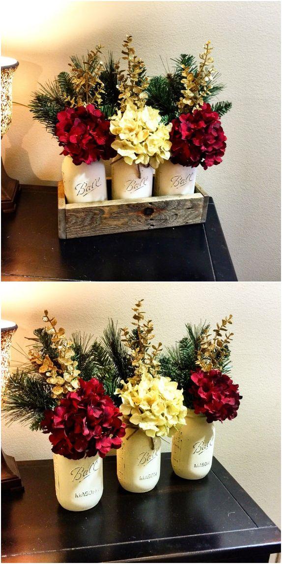 Home & Living, Christmas Decoration, Christmas Decor, Christmas Centerpiece, Christmas Mason Jars, Christmas Gifts, Holiday Decorations