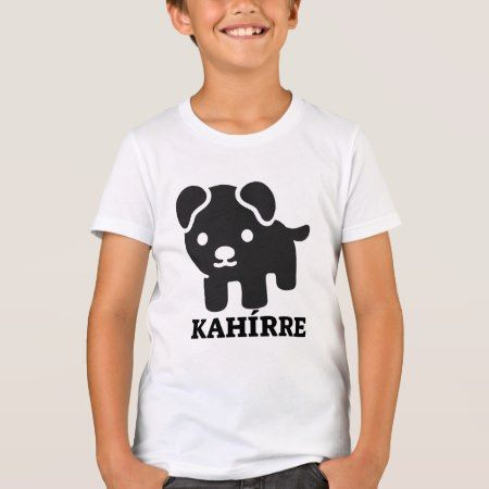 Text in Pijao: kahírre and a black dog T-Shirt - tap, personalize, buy right now!