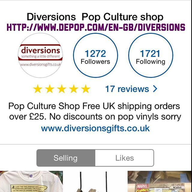 """#depop #diversionsgifts #moviegifts #comicbookgifts #marvelgifts #geek Find us on Depop for full shop range including preowned goodies: http://www.depop.com/en-gb/diversions"" Photo taken by @diversionsgifts.co.uk on Instagram, pinned via the InstaPin iOS App! http://www.instapinapp.com (07/03/2015)"