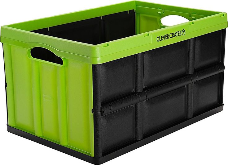 Collapsible Storage Bin Container 62 Liter Solid Wall Utility Basket Royal Blue #CleverMade