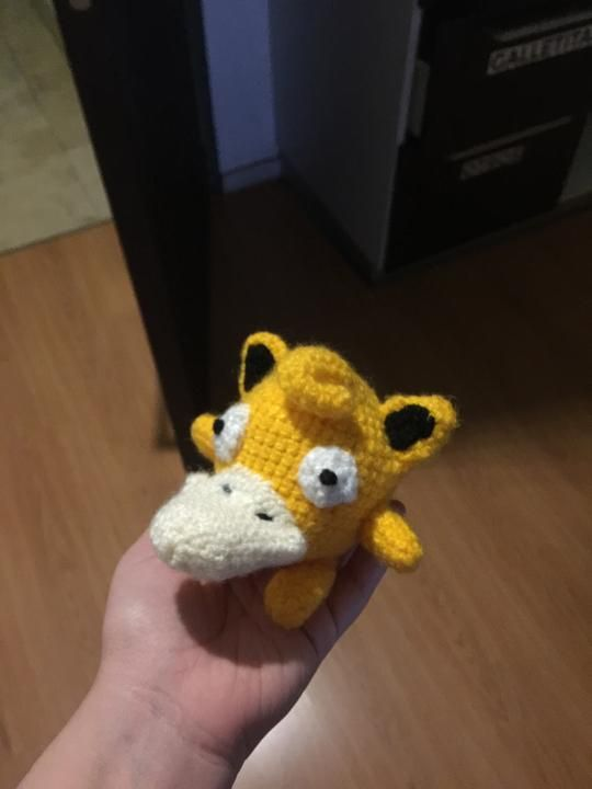 I made a psypuff amigurumi (http://pokemon.alexonsager.net/54/39)