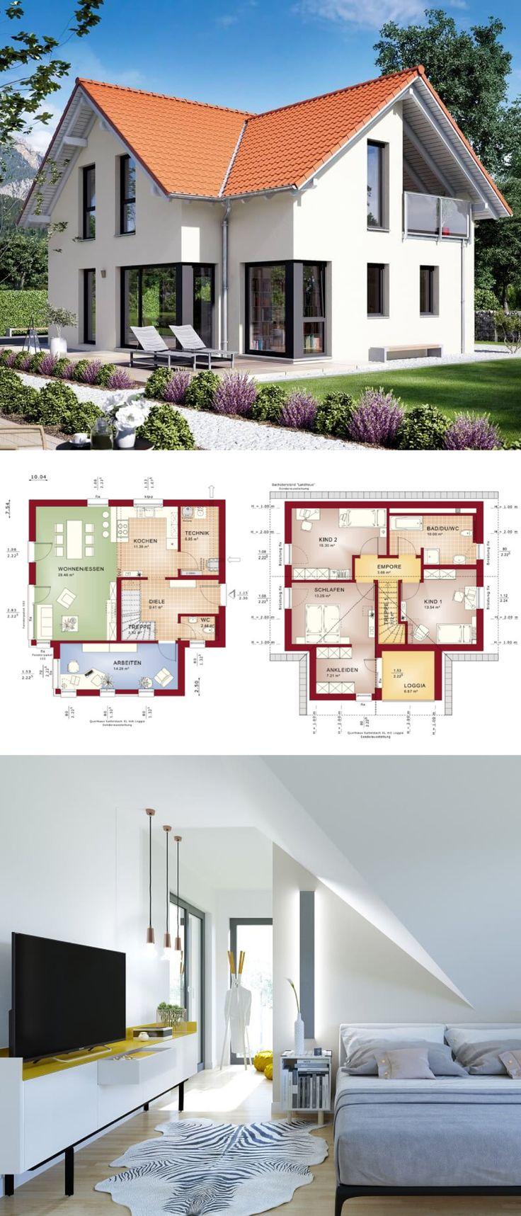 Modernes Haus mit Satteldach Architektur Querhaus …