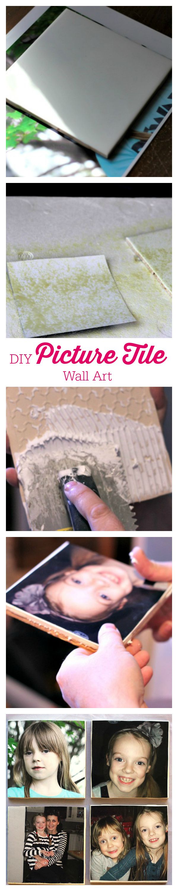 DIY Picture Tile Wall Art - add your fave photos to some tiles to create beautiful and meaningful wall decor.