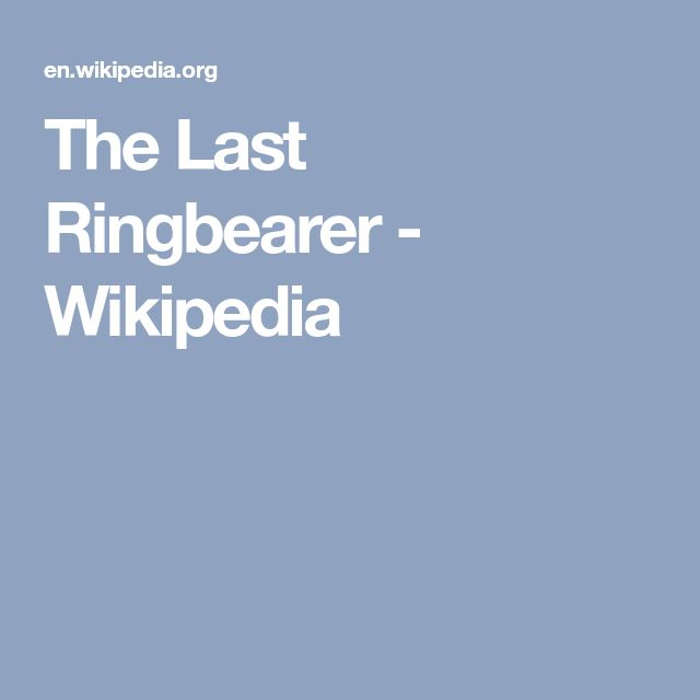 The Last Ringbearer - Wikipedia