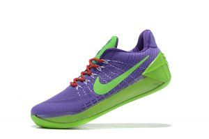 4f501297750 Men s Nike Kobe 12 EP Flyknit AD Purple Green boys Basketball Shoes ...