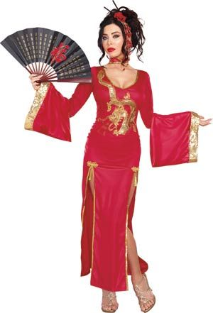 Adult Golden Dragon Geisha Costume