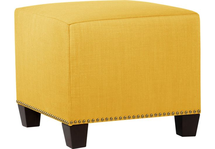 picture of Delana Yellow Ottoman  from  Furniture
