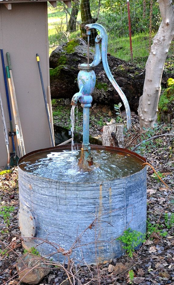 105 best water fountain ideas images on pinterest garden for Recirculating water feature