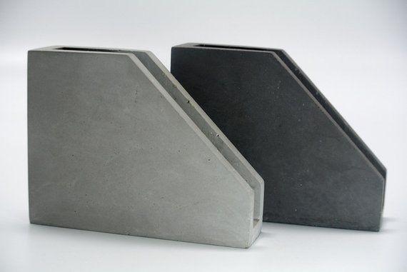 Napkin holder. Concrete napkin holder. Modern napkin holder. Kitchen decor. Concrete napkin stand. Original industrial design. Cement, beton