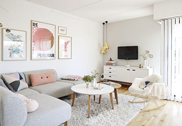 casa nórdica con cables vistos y toques pastel : via MIBLOG