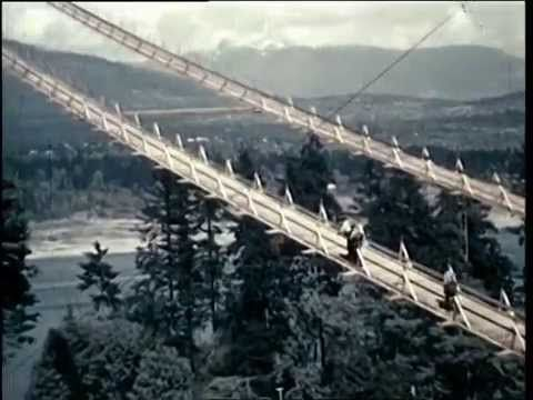 Some really cool colour footage of the construction of the Lion's Gate Bridge in 1938