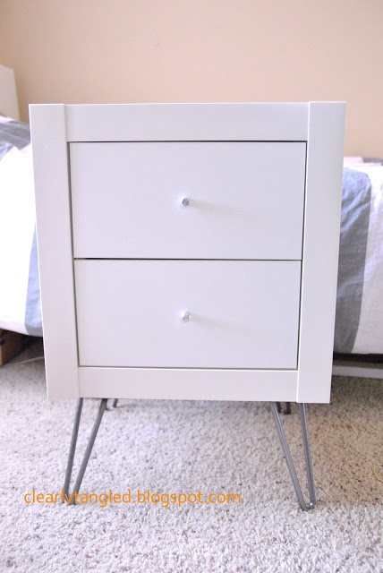 Ikea expedit wall shelf nightstand ikea hack for Ikea nightstand shelf
