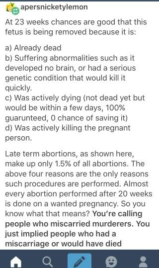 Okay at the end they lost me with miscarriage vs. abortion but the points about late-term abortion are accurate.