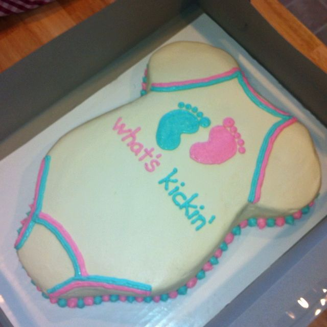 Gender reveal cake. This one was blue cake to announce that my friend is having a boy. A really fun way to find out and celebrate your baby's gender.