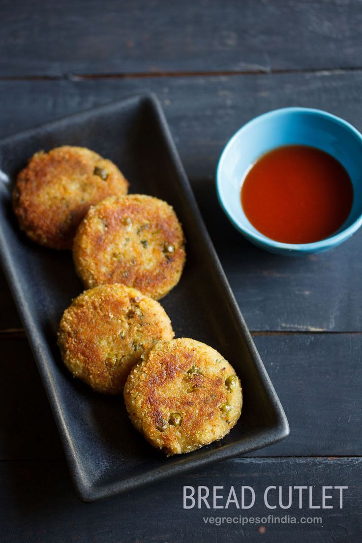 Bread Cutlet Recipe - Crispy and Tasty Cutlets made with Bread and Mixed Veggies.